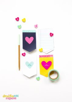 Ditch the candy this Valentine's Day and pass out these adorable mini notepads instead! Easy for kids to help print off and assemble!.. FREE!