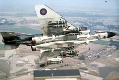 rideoutprotectorsoftherealm: McDonnel Douglas Phantom of No. 41 Squadron based at Coningsby, in flight and displaying a weapons load of cluster bombs, Sparrow and Sidewinder AAMs. Aircraft Parts, Ww2 Aircraft, Fighter Aircraft, Fighter Jets, Military Jets, Military Aircraft, F4 Phantom, Phantom Power, Hms Ark Royal