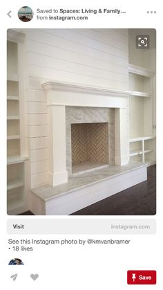7 Sensible Tips AND Tricks: Fireplace Kitchen Entertainment Center whitewash fireplace built ins.Shiplap Fireplace Makeover how to hang tv over fireplace. Fireplace Redo, Fireplace Built Ins, Farmhouse Fireplace, Fireplace Remodel, Living Room With Fireplace, Fireplace Design, Home Living Room, Fireplace Modern, Fireplace Ideas