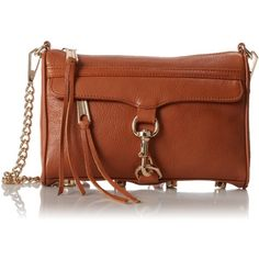 Rebecca Minkoff Mini MAC Convertible Cross-Body Handbag (€160) ❤ liked on Polyvore featuring bags, handbags, shoulder bags, purses, mini crossbody, brown fringe purse, crossbody purse, brown cross body purse and brown purse