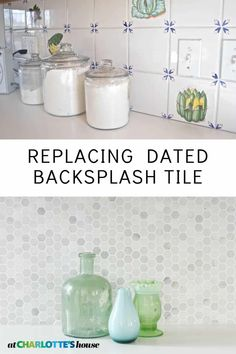 diy projects Our kitchen backsplash was dated and old and it made the entire space feel dated and old. I was able… PAK Old Kitchen, Ikea Kitchen, Updated Kitchen, Kitchen Redo, Kitchen Remodel, Kitchen Design, Kitchen Updates, Kitchen Wall Tiles, Kitchen Backsplash