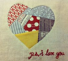 Put your fabric scraps to good use with this paper pieced heart tutorial. Project comes with printable template and is an easy to make craft project. .