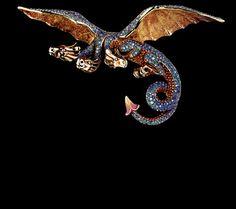 Jewellery Theatre: Jewellery Fairy-Tales Brooch,18K Yellow Gold. 308 blue diamonds, 353 sapphires.