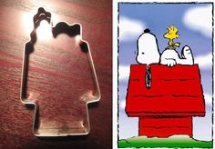View Peanuts Snoopy on House Cookie Cutter in detail
