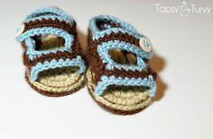 crochet-baby-sandals-front by imtopsyturvy.com, via Flickr