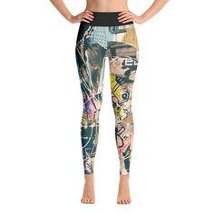 628c2af3175a0d Graffiti Artwork Printed Women Yoga Leggings Best Leggings, Yoga Leggings,  Yoga Pants, Graffiti