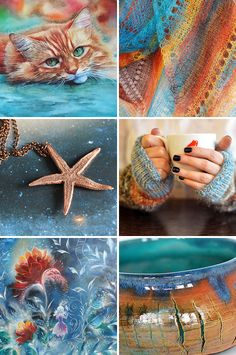 Handmade items set, see more: www.ru… / «Б… – Handmade Items – Handmade Items Colour Schemes, Color Trends, Color Combos, Color Collage, Mood Colors, Color Naranja, Mermaid Coloring, Orange And Turquoise, Color Harmony