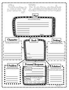 5th grade Story Elements Graphic Organizer | 4th Grade Reading Literature Graphic Organizers for Common Core- make ...