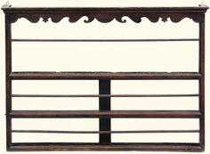 Antique plate rack  sc 1 st  Pinterest & Antique English Walnut Hanging Plate Rack Hand Painted Pen Ink ...