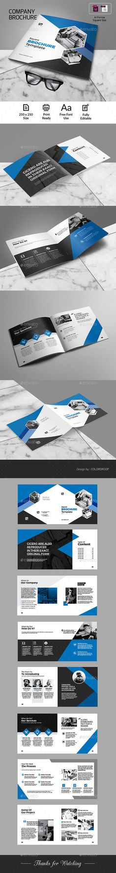 Square Brochure Template InDesign INDD