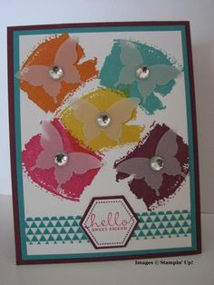 TSOT #191, Artsy Butterflies by BK cards - Cards and Paper Crafts at Splitcoaststampers