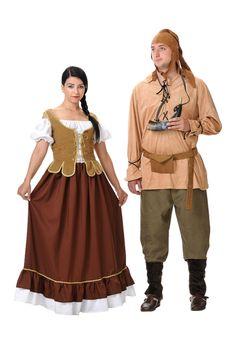 Disfraz medieval tabernera mujer