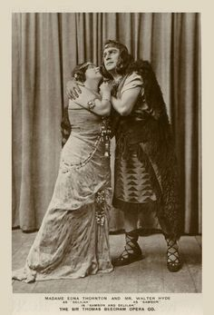 1918 - Walter Hyde as Samson & Edna Thornton as Delilah in Saint-Saëns opera Samson & Delilah featured on a Rotary real photograph postcard. Tenor Walter Hyde was born in Birmingham, England on 6th Feb 1875 and died in London, England on 11th Nov 1951. Contralto Edna Thornton was born in Bradford, England in 1875 and died in Worthing, England on 15th July 1964. # The Beecham Opera Co. was founded by Thomas Beecham [1879-1961] of Beecham pills fame in 1915 and it went into liquida...