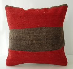 Sukan / SOFT Hand Woven - Turkish Kilim Pillow Cover - 16x16 $89.95