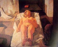 Felice Casorati (1883-1963, Italy) - Fanciulla dormiente / Sleeping girl