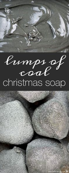 How to Make Lumps of Coal Christmas Soap