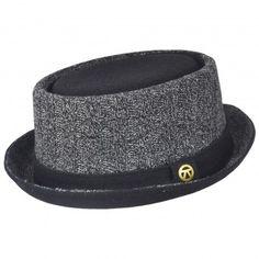 Keyone Crushable Pork Pie Hat-Grey