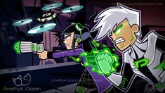 Planet Phantom-Genderbend by Amethyst-Ocean on DeviantArt Nickelodeon Cartoons, Old Cartoons, Danny Phantom, Phantom Planet, Memes Arte, Ghost Boy, Old Shows, Fan Art, Cultura Pop