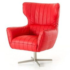 divani casa kylie modern eco leather accent chair red 17958