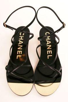 CHANEL black & gold
