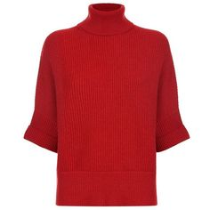Brunello Cucinelli Batwing Polo Neck Sweater ($2,010) ❤ liked on Polyvore featuring tops, sweaters, red sweater, batwing sweaters, turtleneck sweater, brunello cucinelli sweaters and red turtleneck