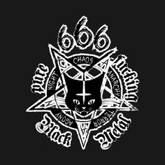 Check out this awesome 'Satanic+Black+Metal+Cat+-+CATAN+666' design on @TeePublic!