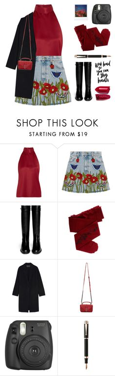 """Red Flowers"" by starit ❤ liked on Polyvore featuring PALLAS, Gucci, Givenchy, ZOHARA, Donna Karan, Yves Saint Laurent, Fujifilm, Polaroid, WALL and Montegrappa"