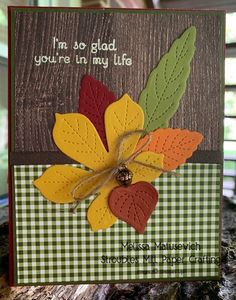 Leaf Cards, Cherry Cobbler, Thanksgiving Cards, Stampin Up Cards, Paper Crafting, Food Print, Fall Decor, Scrapbooking, Leaves