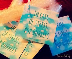 Bubble Wrap Gift Tags: Give the Gift of Stress Relief - Life as a Field Trip
