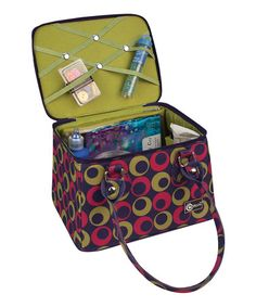 Take a look at this Magenta & Green Crafters Tapered Tote by Creative Options on #zulily today!