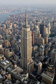 Empire State Building, Manhattan, New York City, New York . State Building stands in this aerial photograph taken over New York Empire State Building, Empire State Of Mind, Ellis Island, One World Trade Center, Photographie New York, New York City, Photo New York, Places To Travel, Places To Go