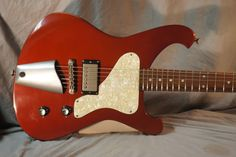 Nick Page Guitars. Baron Prime Candy Apple Red
