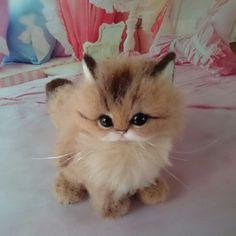 Needle felted kitten by renatomo_1999 from Japan