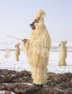 Strohbär, Germany. The Straw Bear costume is inspired by Germany's rural past. Photo: Charles Fréger from his book, Wilder Mann, an in-depth look at the rituals and costumes worn during these annual festivals celebrating the winter solstice and beginning of spring.
