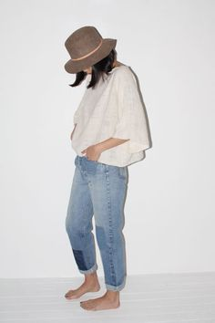 No. 6 and repurposed Levis.
