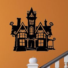 Halloween Haunted House Decal  Halloween Decal  by SpecialCuts, $6.00