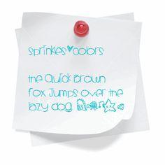 Image for Sprinklescolors font