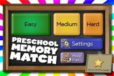 Great free app-memory game done by categories-I use it for describing games-at the end they get fun little slide and drag toys to play with