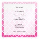 Save the Date - Ombre Moroccan Trellis - Pink Magnetic Card