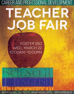 ATTN Education Majors! Baylor's Teacher Job Fair is Wednesday in Foster 250. See you then!