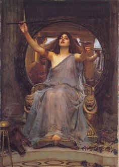"John William Waterhouse: Circe offering the Cup 1891  Oil on canvas. Oldham Art Gallery, Oldham, England  Actual Size (W x H): 92cm x 149cm = 36.25"" x 58.71"""