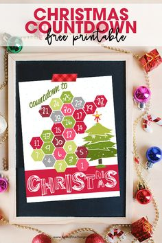 """The kids can have a fun Christmas Countdown with this printable. No more hearing kids ask, """"How many days until.."""" with this free download!"""