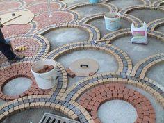 Brick Walkway, Brick Patios, Driveway Paving, Modern Driveway, Garden Pavers, Paver Designs, House Front Design, Garden Landscape Design, Yard Landscaping