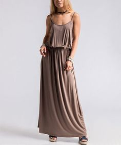 16caffa504 Another great find on Taupe Drape Maxi Dress