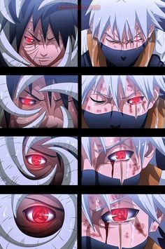 Obito and Kakashi - Mangekyou Sharingan