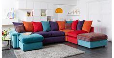 Left Hand Facing Chaise Corner Sofa Skittles Corner | DFS