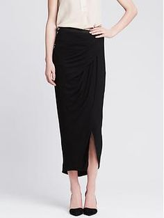 Knit Layered Long Skirt   Banana Republic