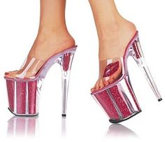 """""""Stripper"""" Heels The 18 Most Horrifying Pairs Of Shoes Ever Made Sexy High Heels, Crazy Shoes, Me Too Shoes, Hooker Heels, Shoe Boots, Shoes Heels, Ugly Shoes, Stripper Heels, Stiletto Pumps"""