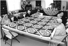 Quilting Bee - I can see my Mother-In-Law sitting there quilting in days gone by. Precious memories made with friends. Plus they made wonderful quilts.