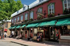 J.A. Moisan on rue Saint-Jean. Oldest grocery store in North America.